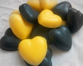 Natural Base Soaps - Guest Soaps - Black-n-Gold Guesties - Free Shipping Domestic