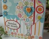 Hot Air Balloon 'Thanks so much' greetings card