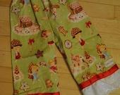 Alexander Henry Holiday Print Ruffle Bottom Pants