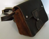 Leather satchel with customized etching