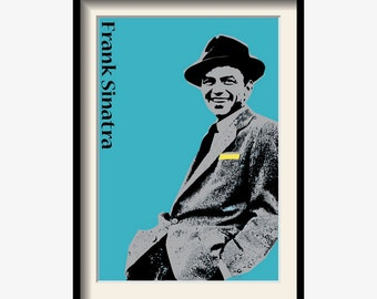 Unique Frank Sinatra poster, Music poster, Music art, Limited Edition