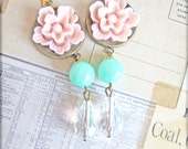 Pink Earrings Pink Wedding Bridesmaids Earrings Pastel Pink Light Pink Pale Pink - Sweet Carrie
