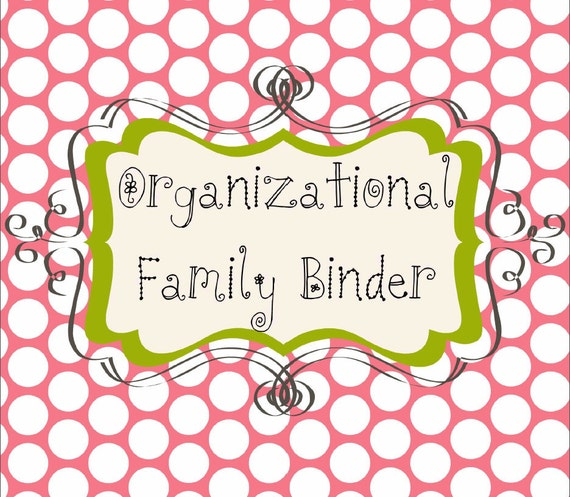 Family Binder Organization Printable System - Watermelon Days Set