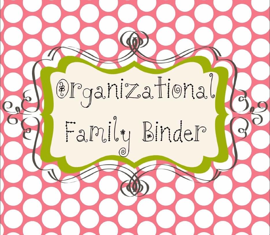 Family Binder Organization Printable System Watermelon Days