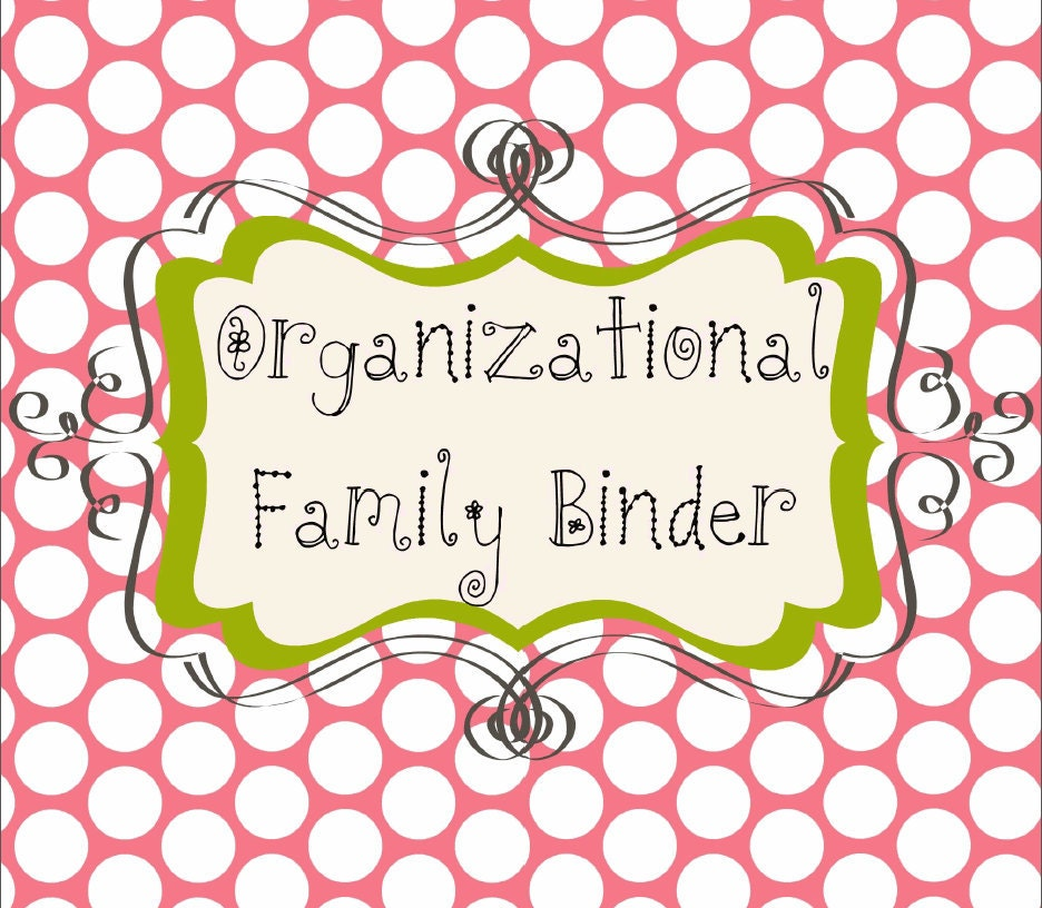 Family Binder Organization Printable System Dividers And