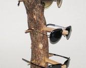 Wooden sunglass display/holder
