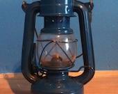 Vintage railroad lantern (blue)