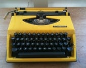 20% discount Laptop typewriter Adler Tippa made in Holland from the 60s (yellow)