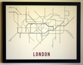 London Typographic Transit Map Poster