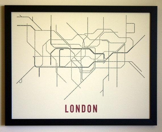 London Typographic Transit Map Poster