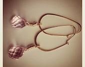 Rose Quartz Teardrop 14K Gold Fill Dangle Earrings