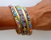 The Full Shisha Shimmy -Set 4:One wide, two narrow and 4 thin bracelets