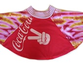 Upcycled Recycled Vintage Coca Cola Girls Tee Shirt Dress Skirt Size 5 6 7