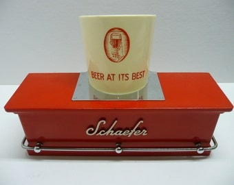 Schaefer Beer Back Bar Caddy Foam Scraper Holder Brewery Super Rare Beer At Its Best Holy Grail Breweriana Advertising Display Americana