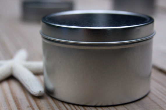 Metal Tin Can Deep Round Tin Rolled Edge Slip Cover Lid