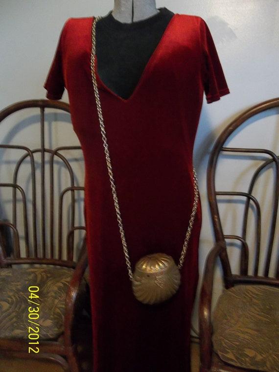 Vintage Renaissance Gypsy  Brass decorative purse / pouch reticule