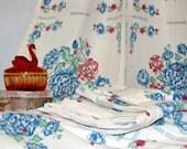 2 Pair of Vintage Floral Curtain Panels