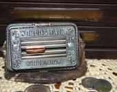 Reserved  for Lisa - RARE Antique Chicago Worlds Fair Coin Purse, Souvenir Coin Purse, Leather Coin Purse