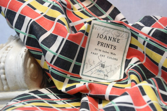 AFTER CHRISTMAS SALE was 30.00 - Vintage JoAnne Prints Cotton Fabric