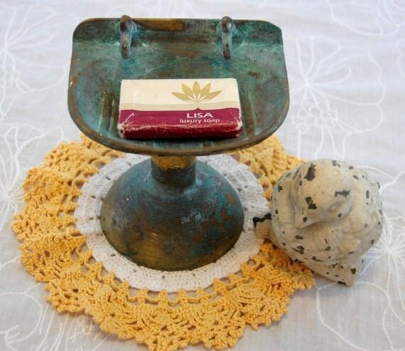 Vintage Brass Soap Dish