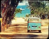 VW Bus, Retro Photography, Retro VW Art, Sea and Sun, Photography, Catalina Island, Under 25