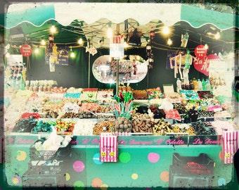 Paris Candy Store, Paris Photography, Pink Paris Print, Candy Store, Paris Odeon, Vintage Style