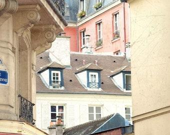 Paris Photography, Pairs Buildings, Large Paris Art Print, Paris Rooftops, Paris Decor