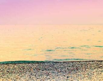 Ocean Photography Pink, Beach Photography Pink Ocean Art, Sunset Art Print, Abstract Ocean, Modern Wall Art Minimalist, Nursery Art