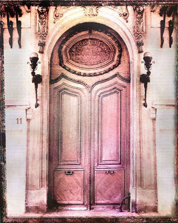 Paris Photography, Pink Paris Photography, Paris Art Print, Paris Door, Gift Idea