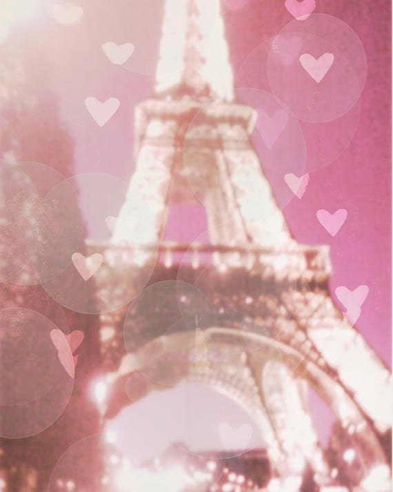 Paris Eiffel Tower Photography Pink Pink Eiffel Tower Photo