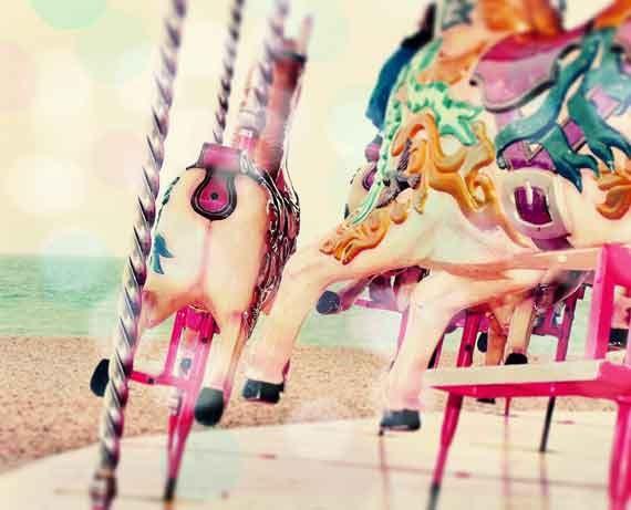Merry Go Round Photography, Nursery Wall Art, Carnival Art Print, Nursery Decor, Large Pastel wall Art Print, Whimsical Art