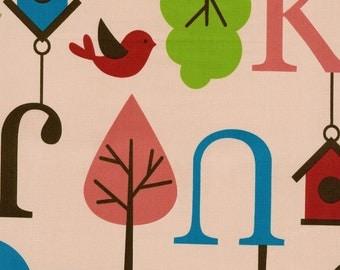 Japanese Cotton Fabric - Alphabets - Half Yard