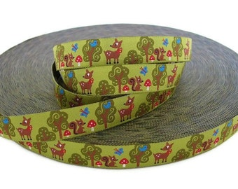 Forest Friends Woven Ribbon - 1 Yard