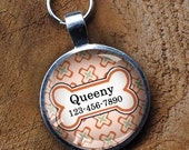 Peach orange Pet iD Tag colorful round Dog Tag 35mm round -  by California Mutts