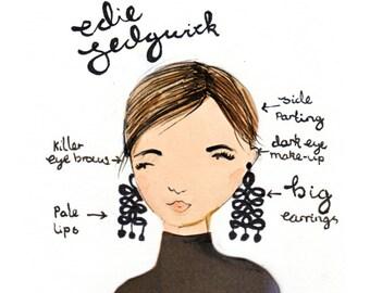 Style Icon Edie Sedgwick A5 Art Print