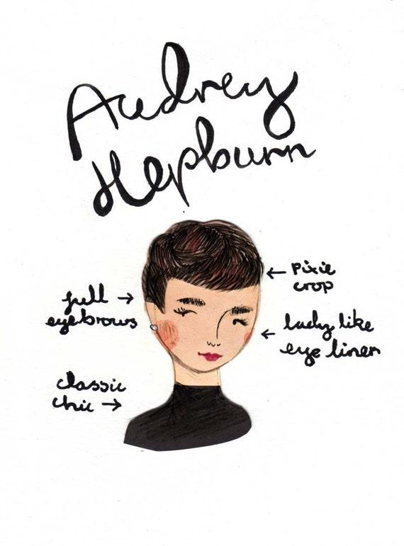 Style Icon Audrey Hepburn A5 Art Print