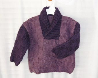 """Knitted """"Retro""""  Sports Sweater"""