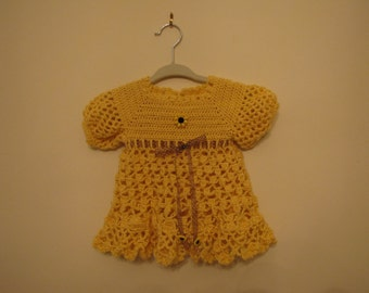 Crocheted Sunflower Honey Dress