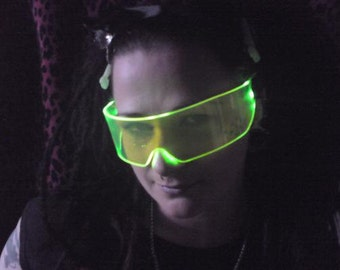 The original Illuminated Cyber goth visor Acid Green