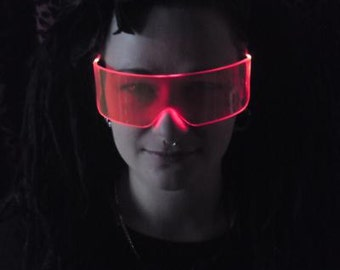 The Original Illuminated Cyber goth visor Tizer Orange