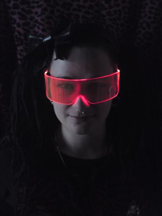 The Original Illuminated Cyber goth visor Tizer Orange