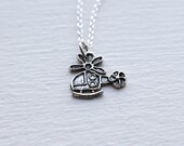 Helicopter Necklace- Unique Charm Jewelry- 925 Sterling Silver Chain- Last Minute Gift