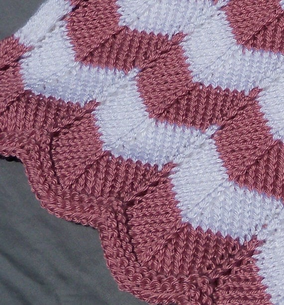 KNITTING PATTERN Joeys Chevron Blanket Pattern PDF