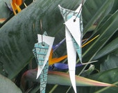 Upcycled Leather Shard Earrings