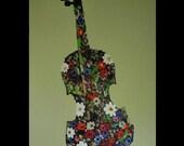 ORIGINAL ABSTRACT Painting 36 x 24 Modern Music Art Instruments Cello Guitar Violin Flowers Still Life Pallete Knife Impasto Textured Canvas