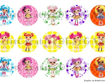 Lalaloopsy digital image sheet for bottlecap, crafts, scrapbooking etc..No.073