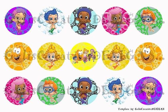 Bubble Guppies digital image sheet for bottlecap, crafts, scrapbooking etc..No.040