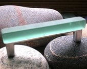 """4""""center on center tumbled glass cabinet pull color #9"""