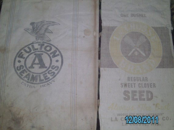 Vintage GRAIN FEED SACKS for Pillows, Fabric, Upholstery & Other Projects