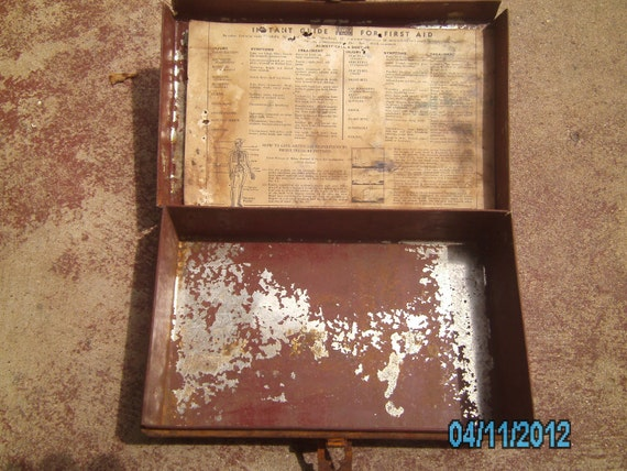 Vintage Very Old FIRST AID Kit by ED Bullard Company